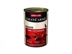 GRANCARNO Senior - hovězí + krůtí srdce