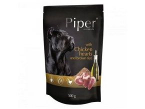 PIPER s kuřecími srdíčky a hnědou rýží, kapsička pro psy