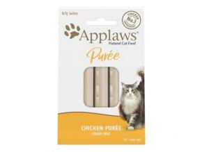 Applaws Purée Cat lízací pyré Kuře 8 x 7g