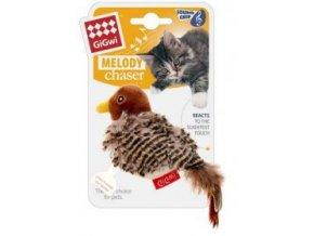 Hračka kočka GiGwi Melody Chaser Ptáček se zvuk.čipem
