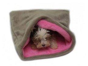 Spací pytel 3v1 béžová/sv.růžová MINI pes,kočka č.24