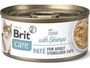 Brit Care Cat konz Paté Sterilized Tuna&Shrimps 70g