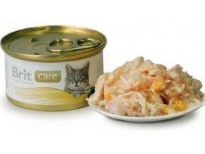 Brit Care Cat konz kuřecí prsa & sýr 80g