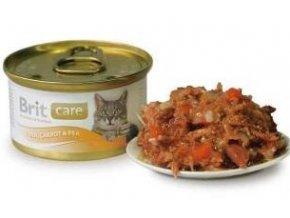 Brit Care Cat konz tuňák,mrkev & hrášek 80g