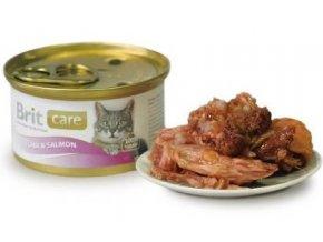 Brit Care Cat konz tuňák & losos 80g