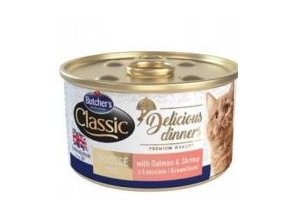 Butcher's Cat Class.Delic.Dinners losos+krevet konz85g
