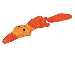 Plovoucí oranžová kačena se zvukem 50 cm