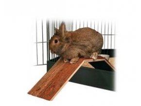Dřevěný most pro králíky a morčata do klecí 63 x 18 x 15 cm