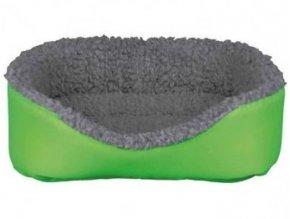 Vlněný pelíšek pro králíka 35 x 28 cm, šedá/zelená