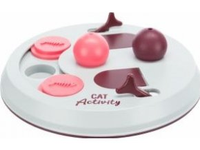Cat Activity FLIP BOARD, strategická hra, ø 23, vínová/růžová/šedá