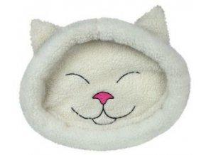 Pelíšek MIJOU kočičí hlava bílá 48 x 37 cm
