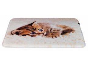 Plyšová podložka TILLY s koťátkem protiskluzová 50 x 40 cm