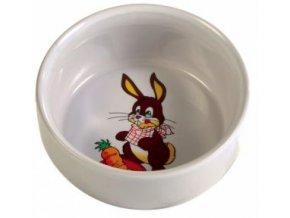 Keramická miska pro králíka s obrázkem 250 ml/11 cm