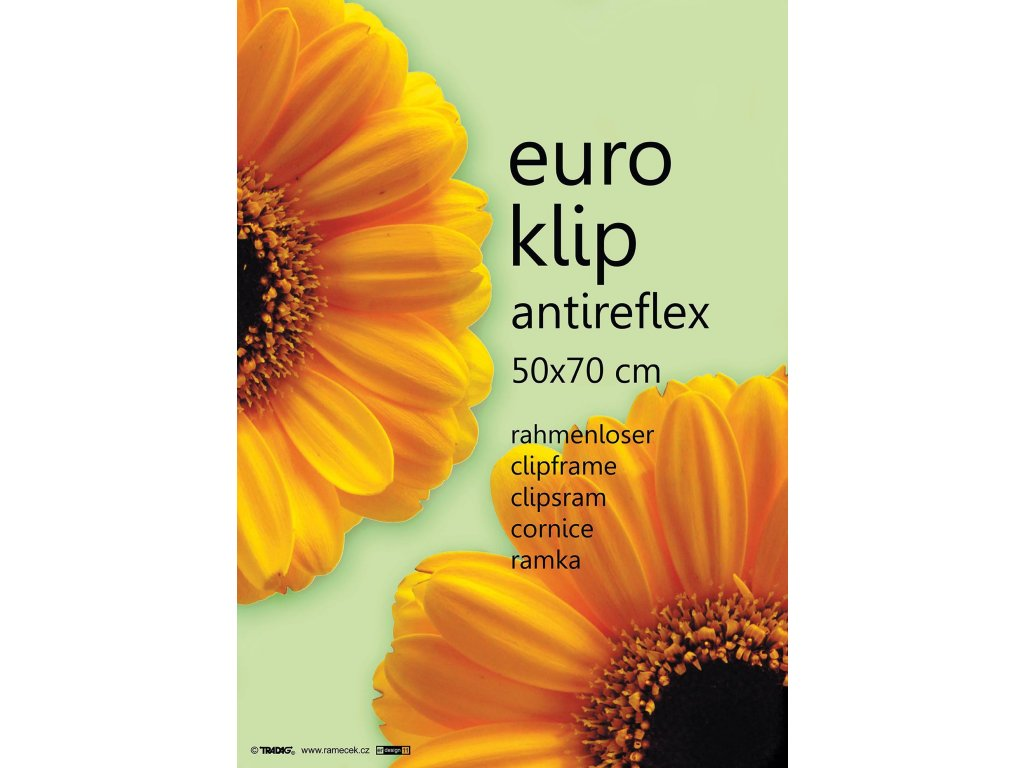 euroklip antireflexní 50x70cm