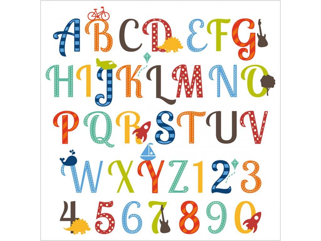 foto obraz abeceda