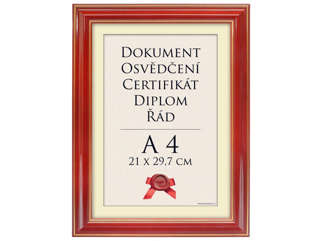 Rámeček A4 červený