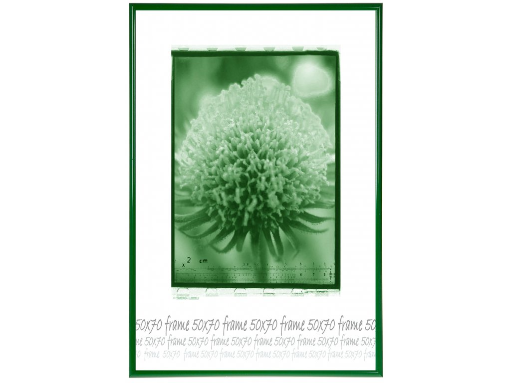 ram plast zeleny 50x70 sklo
