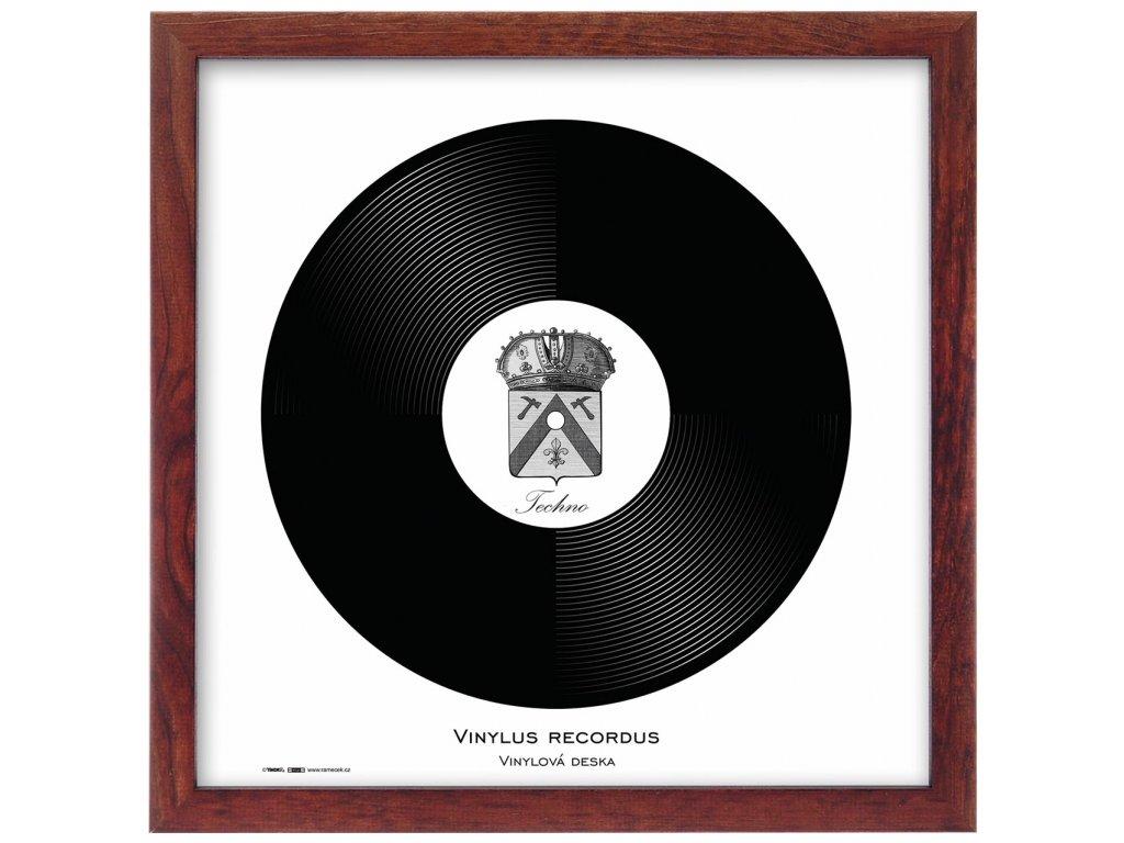 Rámeček natura hnědý 32x32 LP