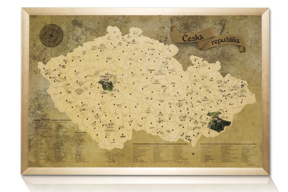 Novinka - Stírací turistické mapy
