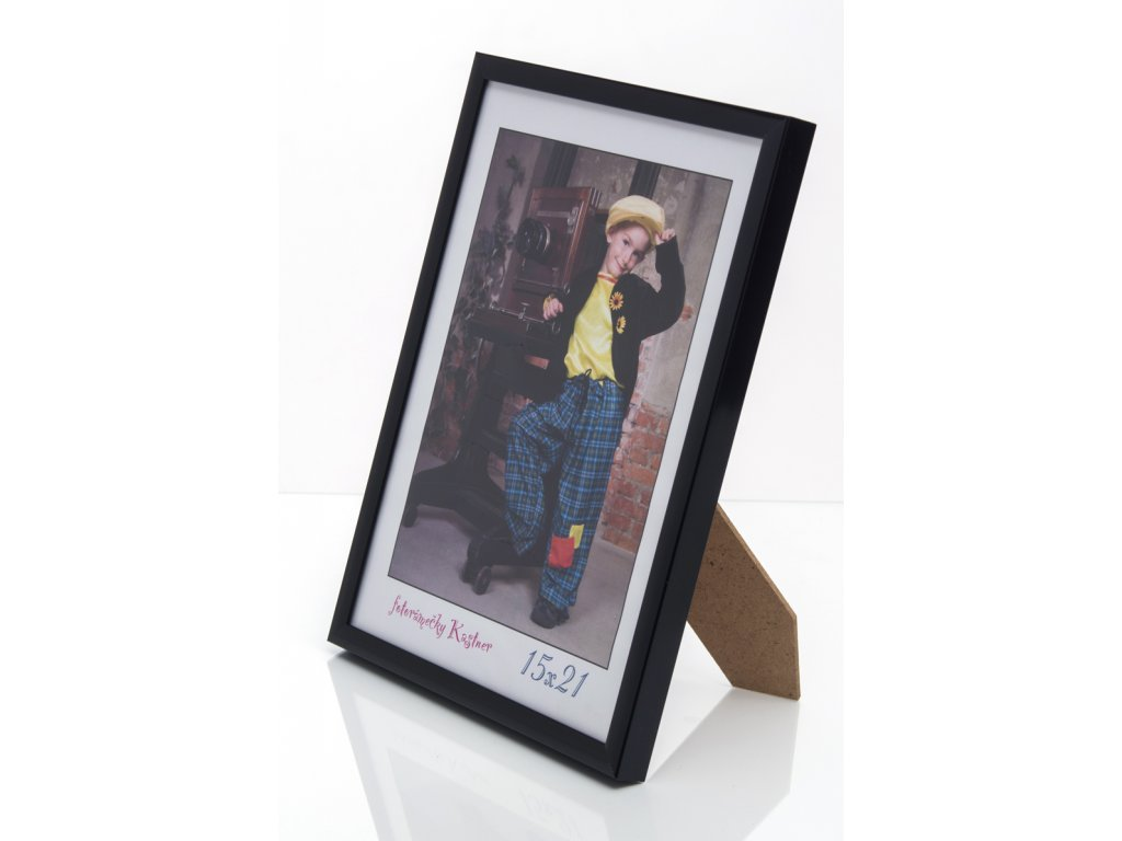fotorámeček černý hliníkový 9047 10x15