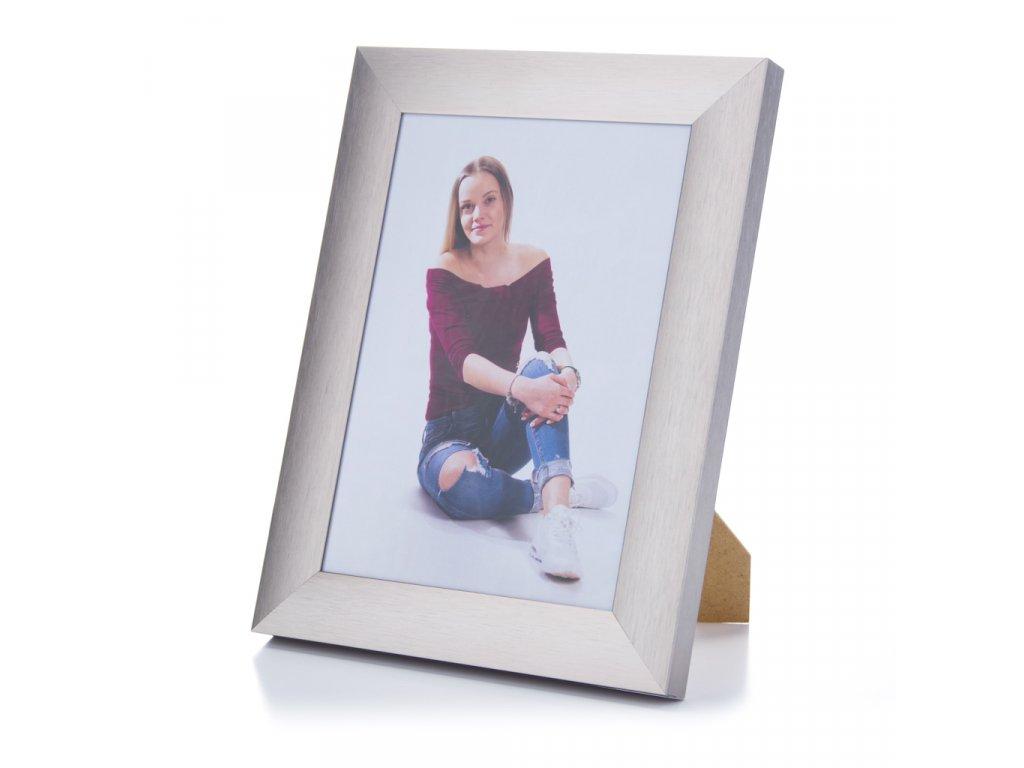 stříbrný rámeček široky na foto