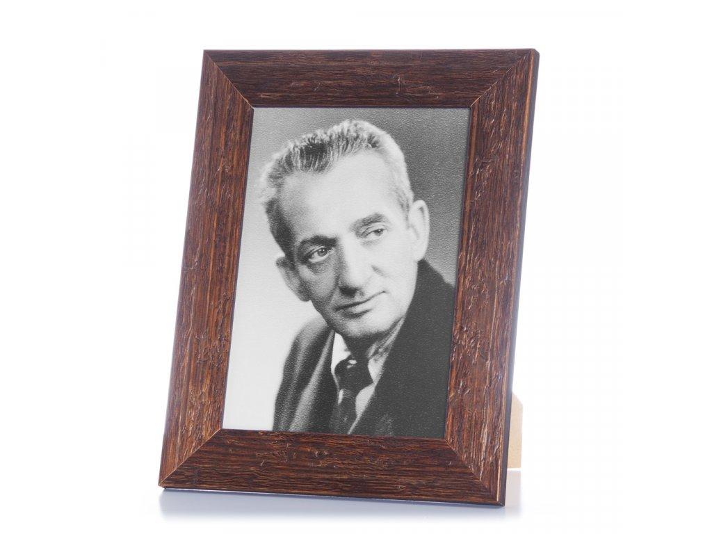 rámeček rustikál dřevěný hnědý portrait