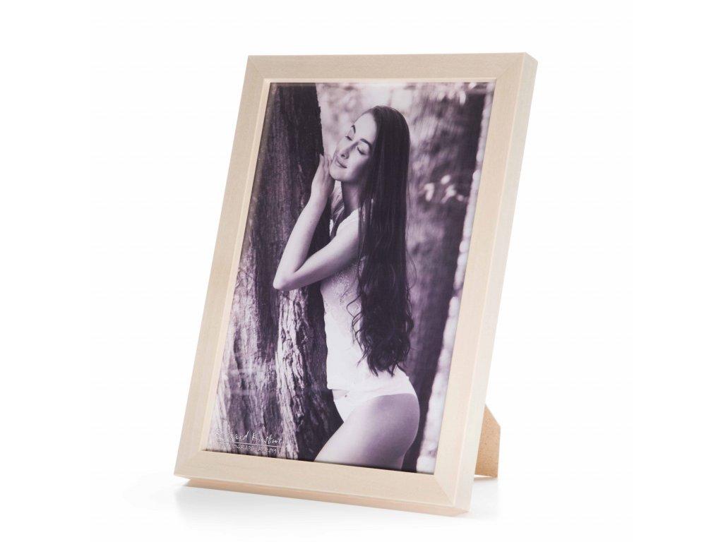 dřevěný fotorámeček světle hnědý
