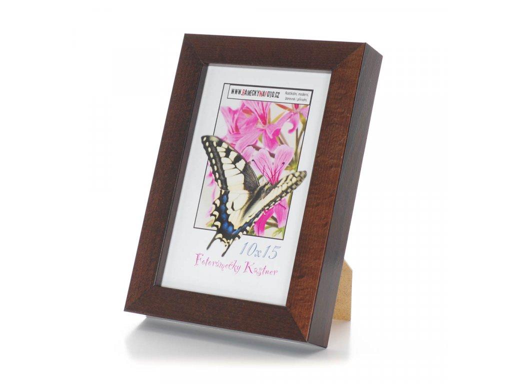 rámeček 10x15cm, tmavě hnědý dřevěný