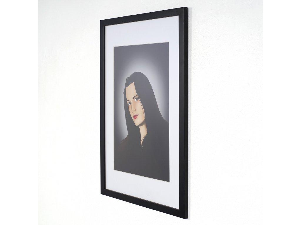 černý dřevěný rám 40x60cm
