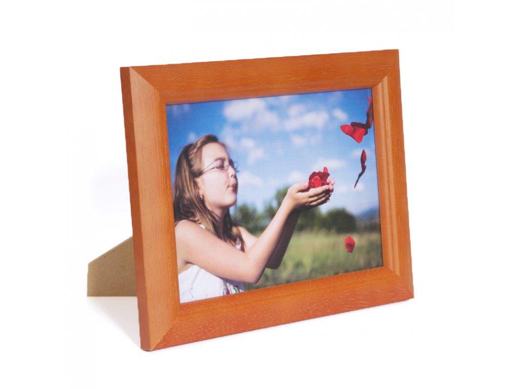 rámeček dřevěný orange