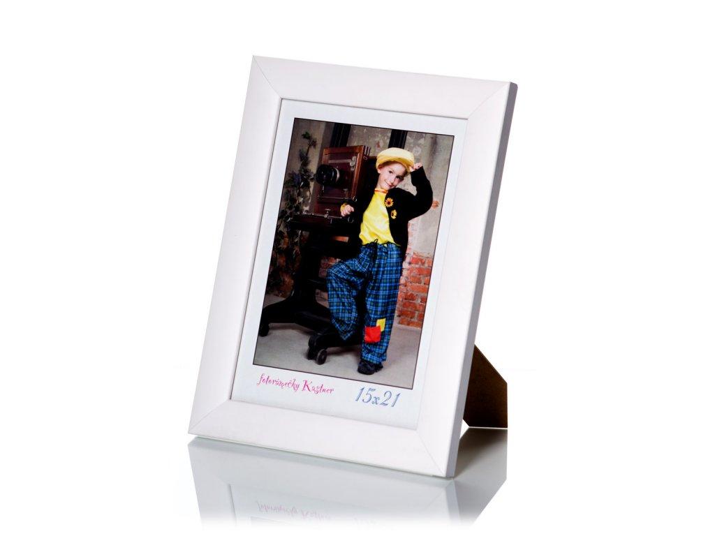 dřevěný rámeček bílý K604, lira L016251801