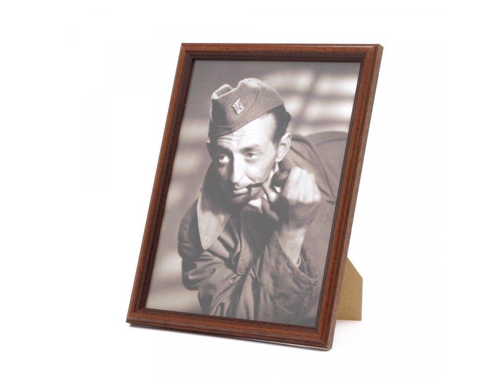dřevěný rámeček hnědý 01