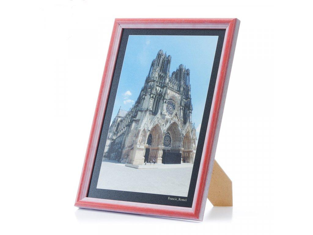 rámeček na fotky dřevěný - červený
