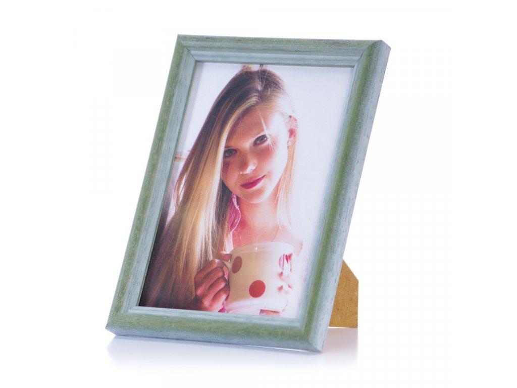 zelený rámeček na foto