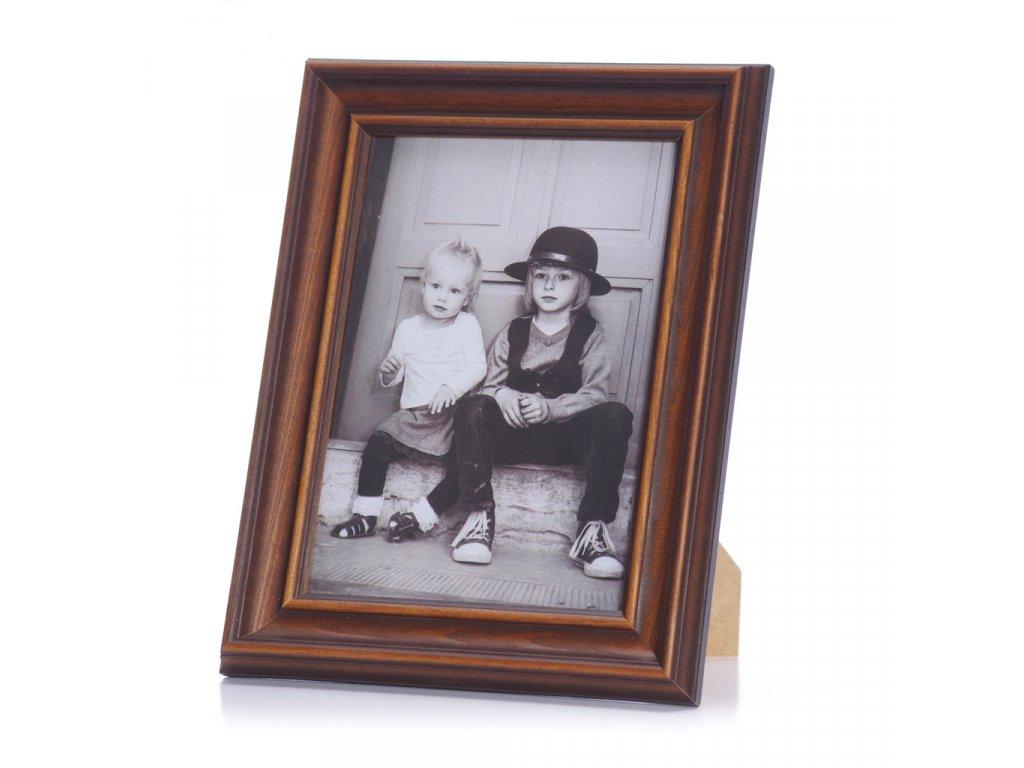 Dřevěný rámeček 10x15  rustikální tmavě hnědý