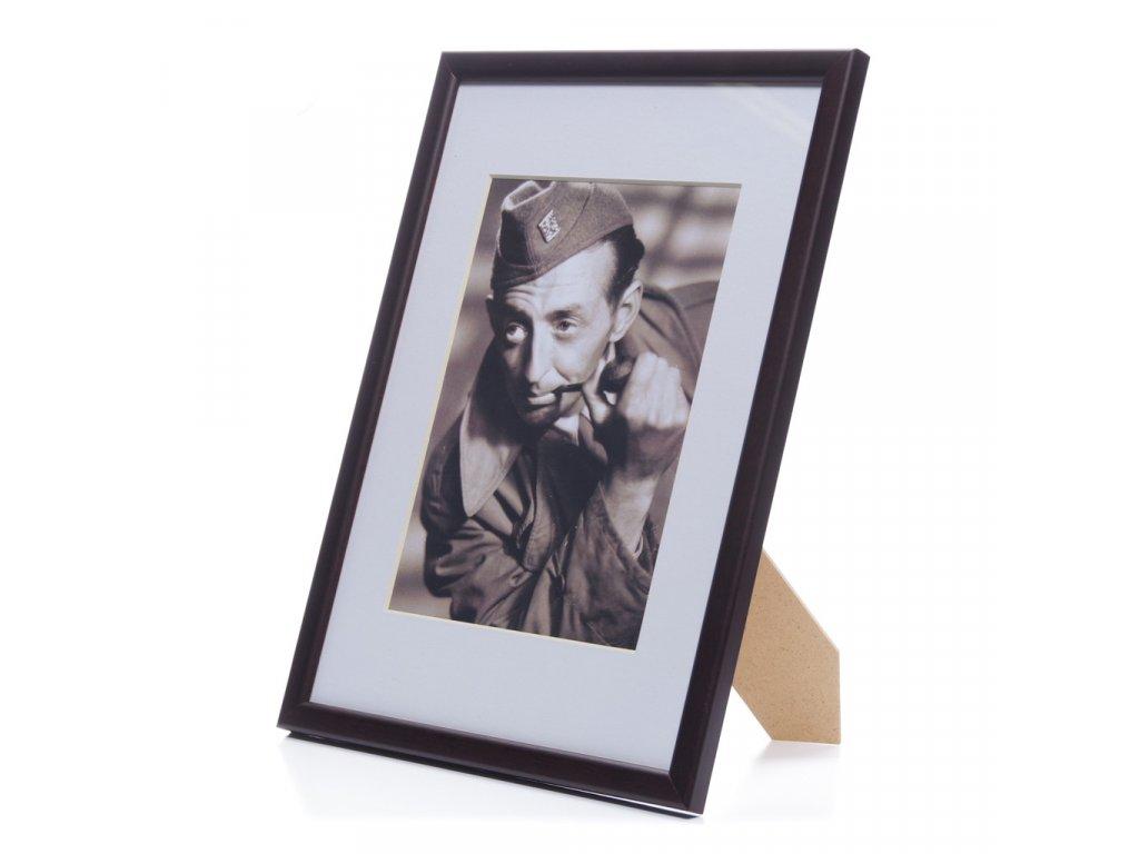 rámeček na foto tmavě hnědý