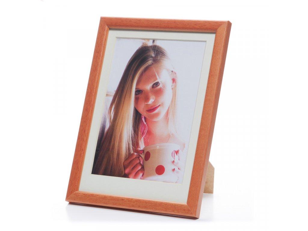 rámeček na foto skořicový - dřevo