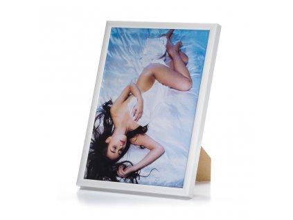 rámeček na foto bílý kovový 01