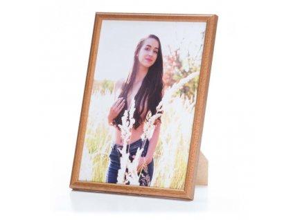rámeček dřevěný tenký, na fotku 10x15cm