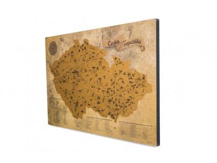 zlatá mapa na fotoblock boční pohled