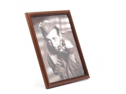 Dřevěný rámečef na foto tm. hnědý LN040A002 2