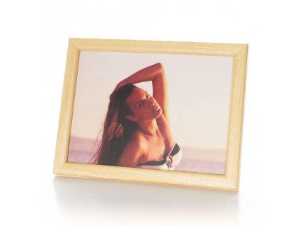světlý rámeček 13x18cm na foto - exotické dřevo