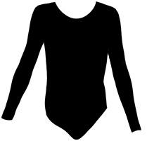 Gymnastické dresy s dlouhým rukávem