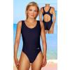 Dámské sportovní plavky jednodílné P1 královská modř