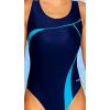 Dámské plavky jednodílné P247 tmavě modrá s tyrkysovou