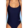 Dámské sportovní plavky jednodílné P250 tmavě modrá