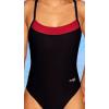 Dámské sportovní plavky jednodílné P251 černá s červenou