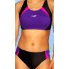 Dámské sportovní plavky dvoudílné P280 černo-fialová