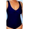 Dámské plavky jednodílné pro plnoštíhlé s kosticemi P38 tmavě modrá
