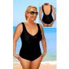 Dámské plavky jednodílné pro plnoštíhlé s kosticemi P38 tmavě růžová